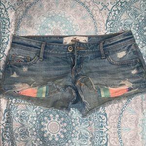 rare holister jean shorts size 25 1!